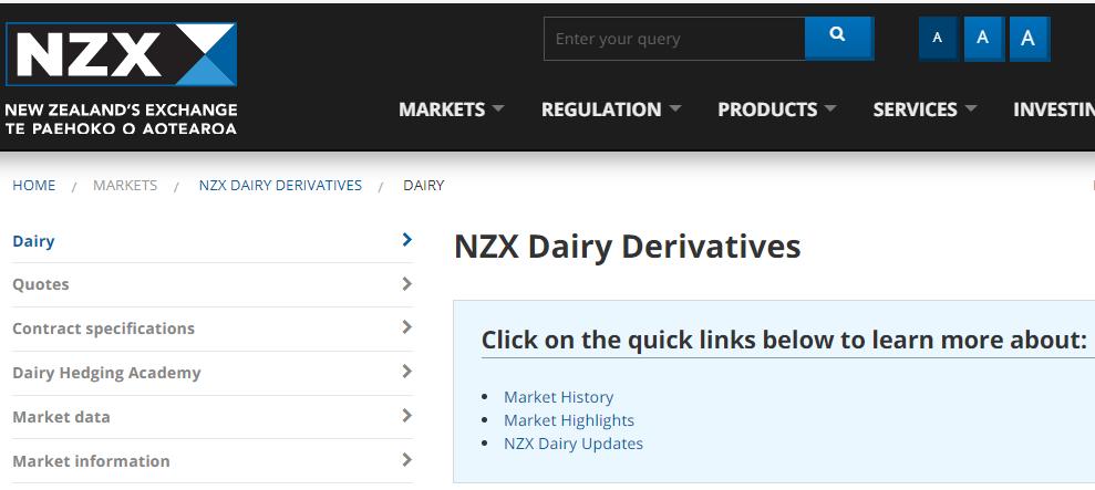 Los futuros de derivados lácteos de NZX se mudan a Singapur